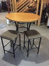 Bar height table and stools in Oswego, Illinois