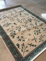 Cream and green rug in Westmont, Illinois