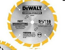 dewalt 6 1.2 in 16 tooth saw blade ( one on hand) in Kingwood, Texas
