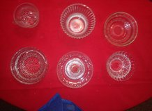 six misc vintage crystal glass pieces in The Woodlands, Texas