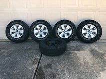 """Goodyear Wrangler Tires, 17"""" Set of 4 with Mag Wheels and one new spare tire. in Kingwood, Texas"""