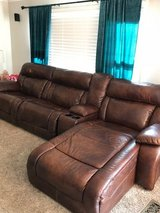4-pc leather couch (2 of the 4 sections are automatic recliners) in Naperville, Illinois