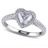 **BRAND NEW***Clear Heart Cut Halo Ring***SZ 7 in The Woodlands, Texas