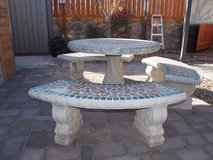 Patio concrete table in Fort Bliss, Texas