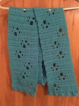 Handmade Teal Paw Print Scarf in Aurora, Illinois