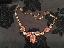 Rose gold opal tulip necklace in Byron, Georgia