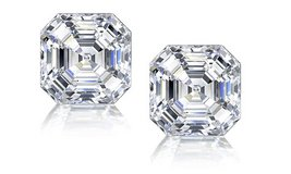 ***SALE***BRAND NEW*** 3CTTW ASSCHER CUT CZ EARRINGS**** in Kingwood, Texas