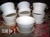 McCOY CERAMIC FLOWER POTS GREAT CONDITION in Fort Benning, Georgia