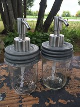 Repurposed pump Mason jars in Bartlett, Illinois