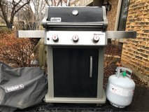 : ) WEBER PROPANE GAS GRILL W/ TANK & COVER in St. Charles, Illinois