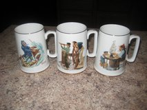 Norman Rockwell Mugs - Set of 3 in Algonquin, Illinois