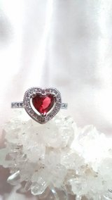 1.2ct Natural Ruby Ring 925 Silver stamped size 8 in 29 Palms, California