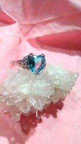 2.2 ct Aquamarine ring Size 9 Silver 925 stamped in 29 Palms, California
