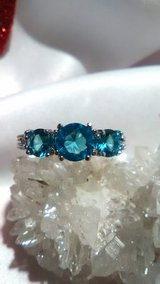 Light Blue Sapphire Ring Size 7 Silver 925 stamped in 29 Palms, California