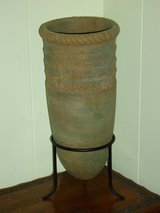 """15""""H pottery w/metal legs in Plainfield, Illinois"""