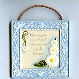 "AMSCAN ""FRIEND"" CERAMIC WALL PLAQUE 4x4 in Oswego, Illinois"