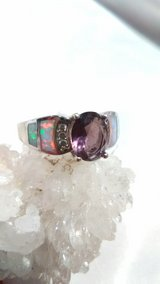 Amethyst Gemstone Ring Size 10 Silver 925 stamped in 29 Palms, California