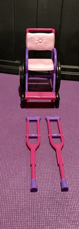 American Girl Doll Wheel Chair and Krutches in Joliet, Illinois