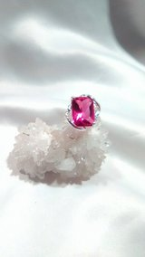 7.14ct Pink Sapphire Ring 925 silver in 29 Palms, California