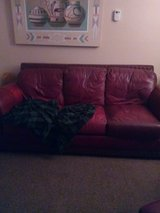 leather couch loveseat amd chair with otium in Alamogordo, New Mexico