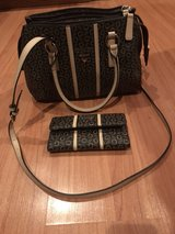 GUESS brown/tan purse & wallet in Oswego, Illinois