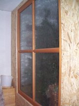 Wood/GLASS DIVIDER  -special saftey  window glass- in Ramstein, Germany