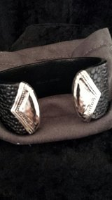 leather and .925 sterling silver cuff bracelet in Fort Knox, Kentucky