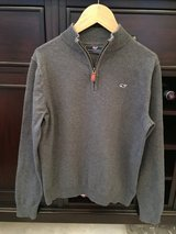 Boys Vineyard Vines Classic 1/4-Zip Sweater - Grey Size M (10-12) in Chicago, Illinois