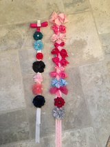 Lots of Hair Bows!  18 Bows + 2 Pink Holders/Hangers in Westmont, Illinois