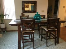 Reclaimed look wood table and 4 chairs in Fort Drum, New York