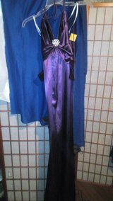 Purple Satin Long Formal in Fort Polk, Louisiana