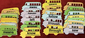 50 Tactile Sight Word Cards in Okinawa, Japan