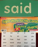 Lakeshore Sight Word Tactile Cards Level 2 in Okinawa, Japan