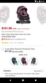 Infant car seat used in Spring, Texas