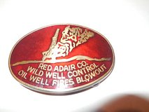 Vintage Red Adair Wild Well Control Oil Well Fires Blow Out Belt Buckle in Conroe, Texas
