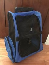 Oxgord Pet Rolling Backpack - Premium Quality Airline Approved - Blue in Lockport, Illinois