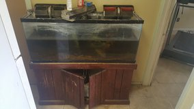FISH TANK    WITH STAND AND PUMPS AND WHAT EVER IS THERE TO HELP YOU START in Alamogordo, New Mexico