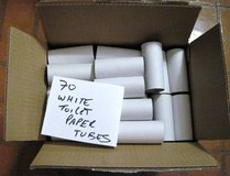 70 White Toilet Paper Rolls Cardboard Tubes for Crafts-Art-School-Church Project in Schaumburg, Illinois