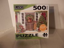 "500 pc. puzzle  ""Holiday Door"" in Naperville, Illinois"