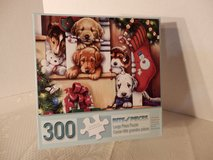 "300 large piece puzzle.  ""Christmas Puppies On The Loose"" in Naperville, Illinois"