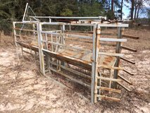 Roping chute with extension in Fort Polk, Louisiana