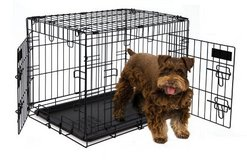 Petmate 24-Inch 2-Door Training Retreats Wire Kennel for Dogs, 25 to 30-Pound in Chicago, Illinois