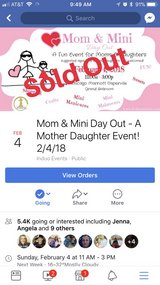ticket to mom/daughter event in Aurora, Illinois