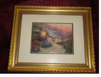 "Framed Thomas Kincaid Print ""Glory of Evening"" in Fort Rucker, Alabama"
