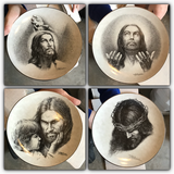 Portraits of Christ plates in Baytown, Texas