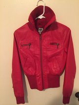 Girls Red leather-like jacket in 29 Palms, California