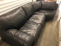 Black Leather Couch in Tacoma, Washington