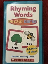 Rhyming Words Puzzle Cards in Okinawa, Japan