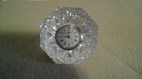 Waterford Crystal  Paperweight  Clock Diamond Cut Shaped in Oswego, Illinois