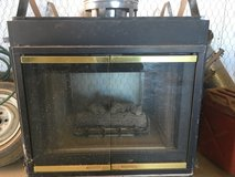 See through gas fireplace with vent pipe in Alamogordo, New Mexico
